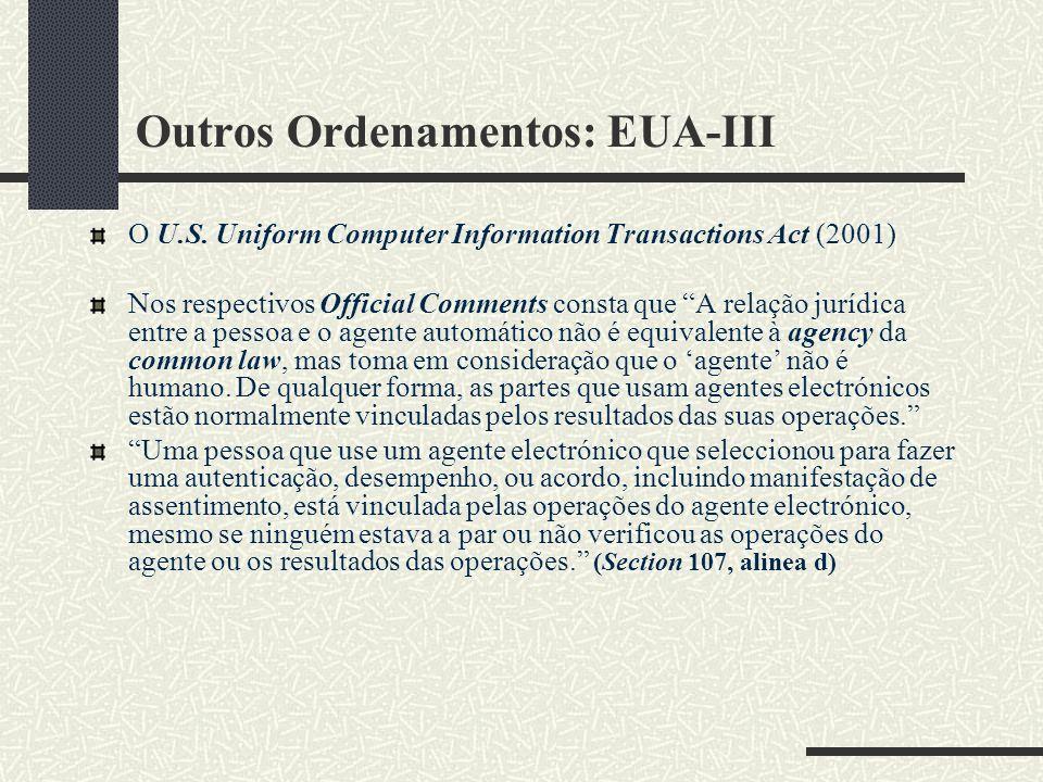 Outros Ordenamentos: EUA-III O U.S.