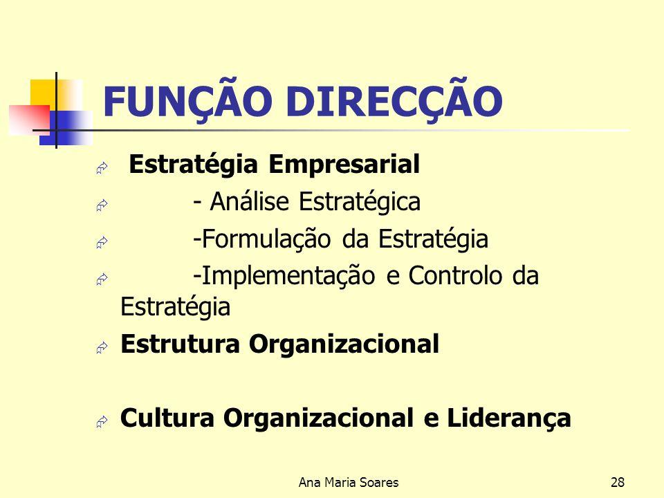Ana Maria Soares27 NÍVEIS DE GESTÃO NÍVEL OPERACIONAL- Predomina a componente técnica e actividade destes gestores traduz-se fundamentalmente na execu