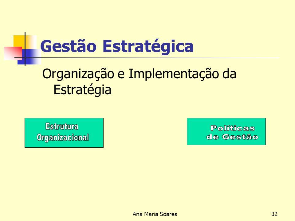 Ana Maria Soares31 Gestão Estratégica Formulação da Estratégia