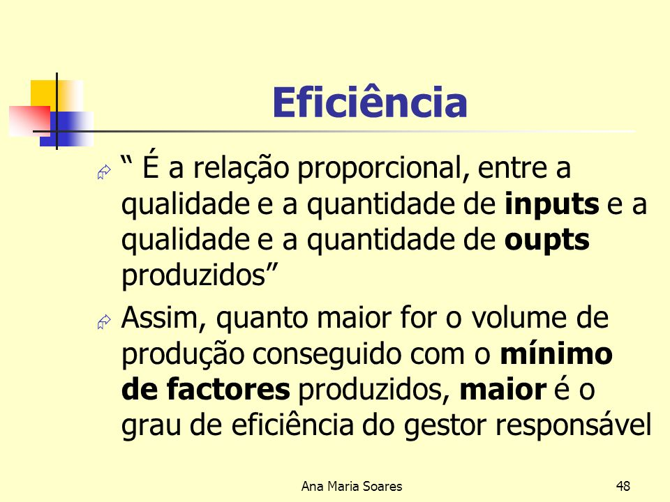 Ana Maria Soares47 Razões da Implementação da Departamentalização Volume de trabalho Agrupamento de funções similares Tradições e lei do trabalho Separação de Funções para evitar conflitos de interesses Necessidade de controlo de funções não semelhantes