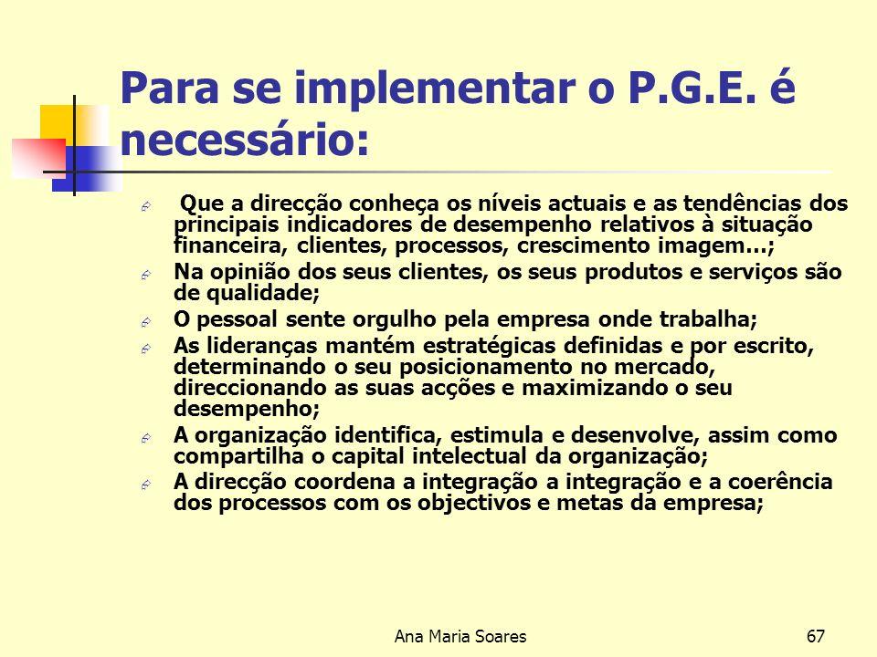 Ana Maria Soares66 Factores que devem ser considerados durante a criação de um plano de acção O que precisa ser feito.
