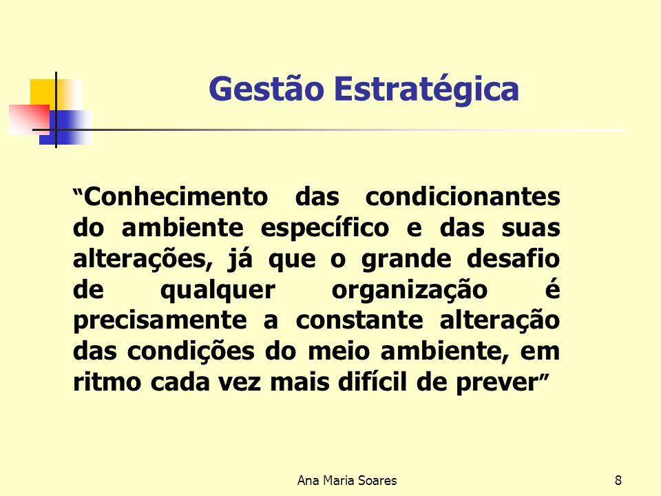 Ana Maria Soares7 Avaliação 1º Trabalho Será que as organizações devem ter uma estratégia? Porquê? e Para quê? 2º Trabalho Partindo de uma empresa con