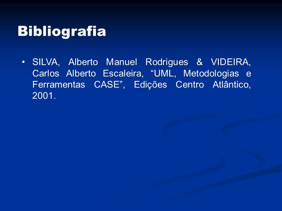 Bibliografia SILVA, Alberto Manuel Rodrigues & VIDEIRA, Carlos Alberto Escaleira, UML, Metodologias e Ferramentas CASE, Edições Centro Atlântico, 2001