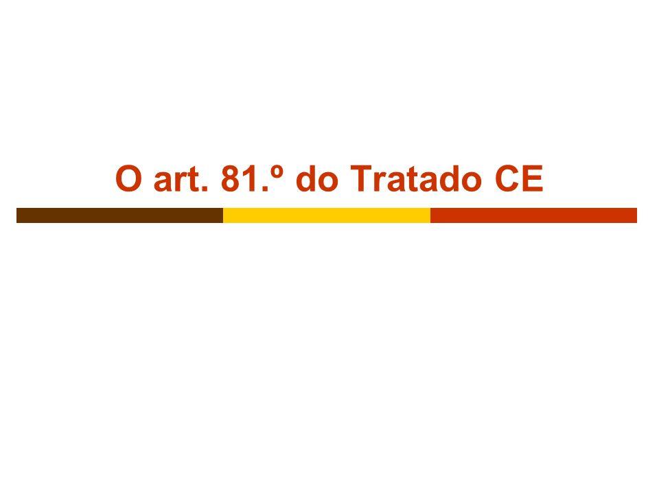MMLM - Brasília - Abril 20059 Âmbito de aplicação territorial e material O princípio do efeito anti-concorrencial (ou da territorialidade objectiva) N