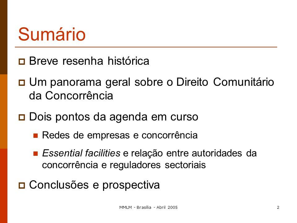 Seminário Internacional sobre Direito da Concorrência O Direito Comunitário da Concorrência Maria Manuel Leitão Marques mmanuel@fe.uc.pt e Faculdade d