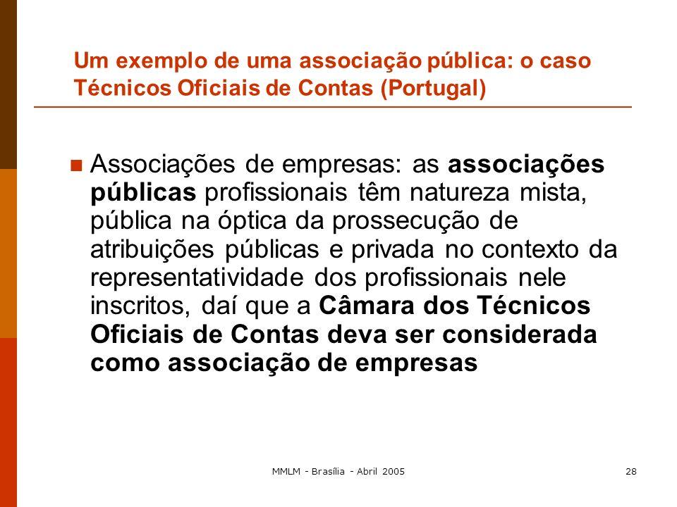 MMLM - Brasília - Abril 200527 Art. 81.º, n.º1 – Decisões de Associações de Empresas Os advogados exercem uma actividade económica e, portanto, consti