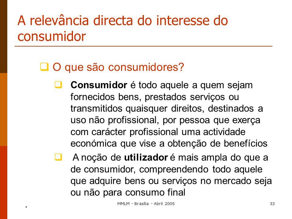 MMLM - Brasília - Abril 200532 Art. 81º, n.º 3 Regra do balanço económico Permite considerar inaplicáveis as disposições do n.º1, por um tempo limitad