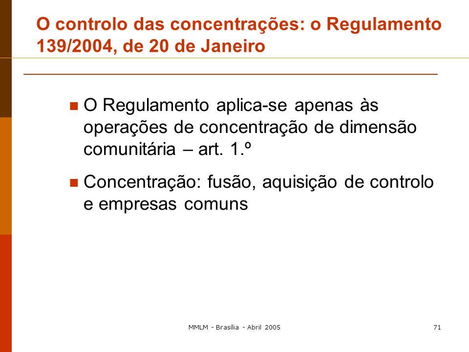 Controlo das Concentrações