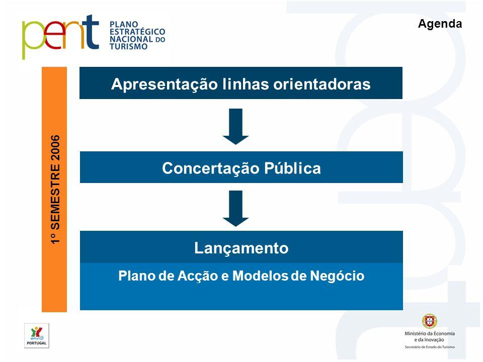 Apresentação linhas orientadoras Concertação Pública Plano de Acção e Modelos de Negócio 1º SEMESTRE 2006 Lançamento Agenda