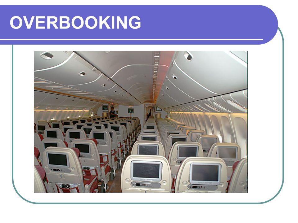 CONCEITOS INICIAIS OVERBOOKING é o passageiro reservado mas impedido de embarcar devido reservas em número superior ao dos assentos disponíveis.