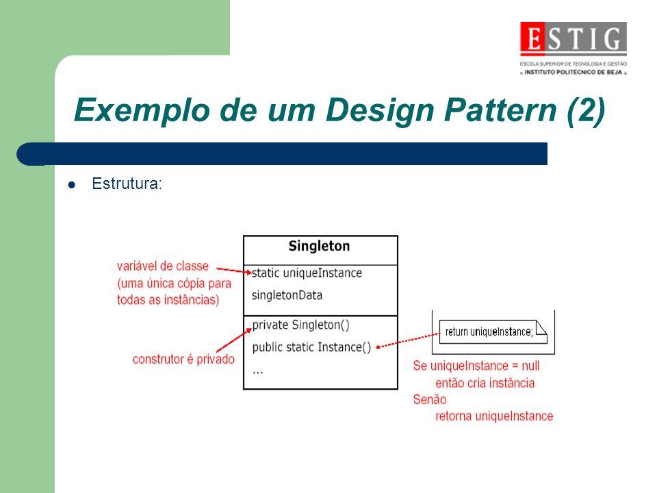 Exemplo de um Design Pattern (2) Estrutura: