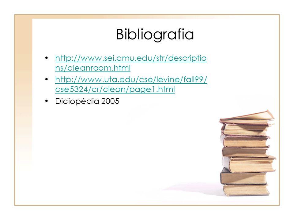 Bibliografia http://www.sei.cmu.edu/str/descriptio ns/cleanroom.htmlhttp://www.sei.cmu.edu/str/descriptio ns/cleanroom.html http://www.uta.edu/cse/lev