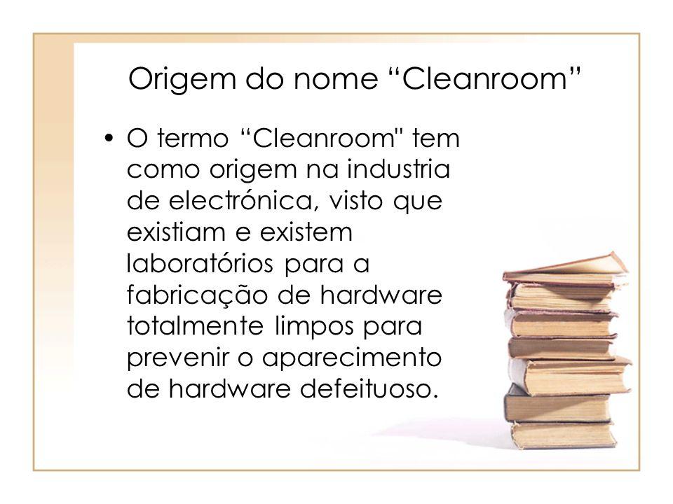 Origem do nome Cleanroom O termo Cleanroom