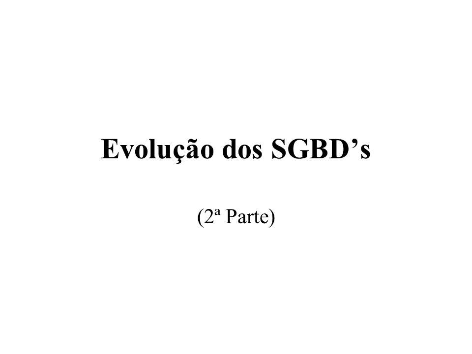 Evolução dos SGBDs (2ª Parte)