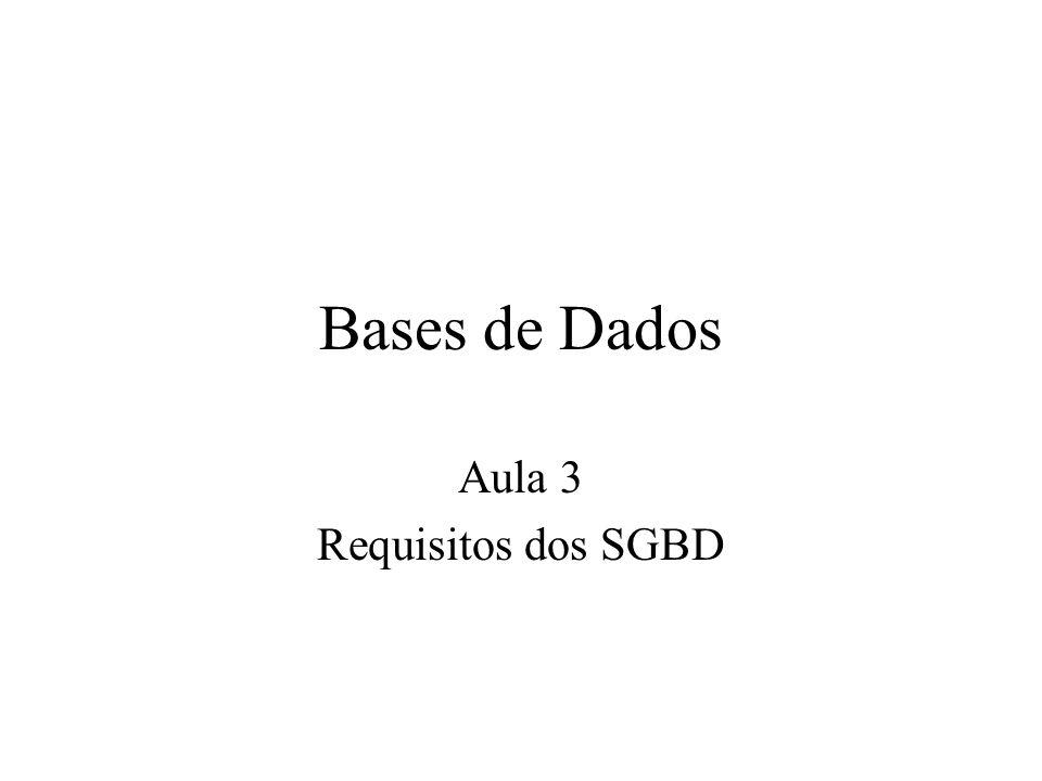 Bases de Dados Aula 3 Requisitos dos SGBD
