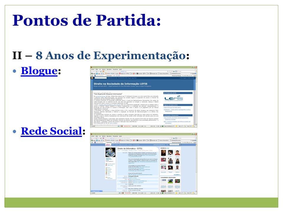 Pontos de Partida: II – 8 Anos de Experimentação: Blogue: Blogue Rede Social: Rede Social