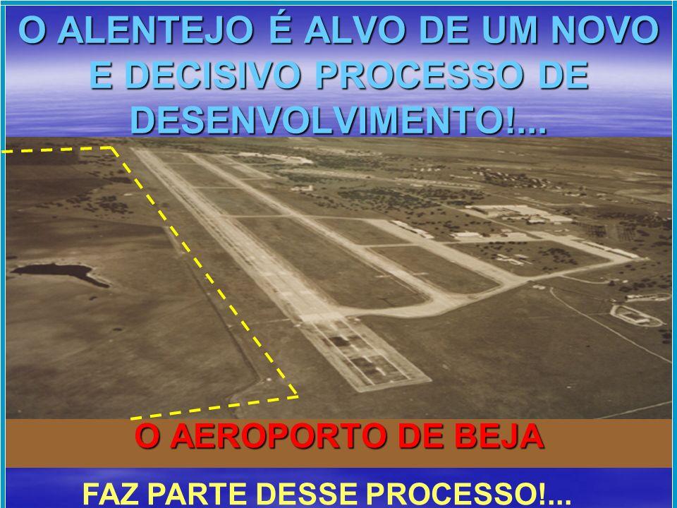TRIANGULO DE DESENVOLVIMENTO AEROPORTO DE BEJA BARRAGEM DO ALQUEVA PORTO DE SINES O AEROPORTO DE BEJA … …É UM DOS VÉRTICES!...