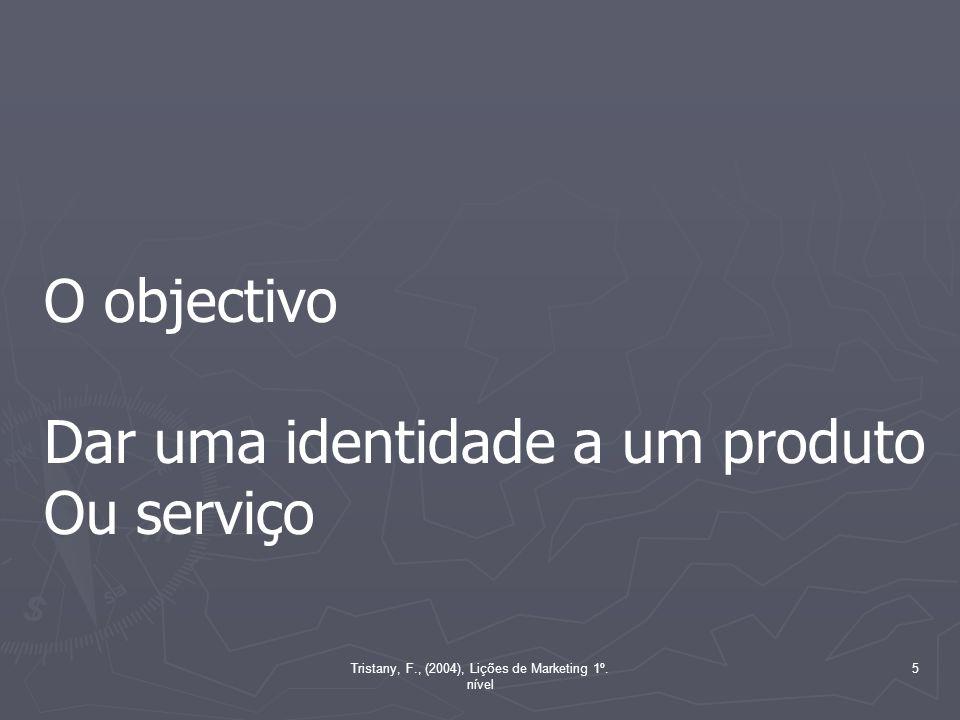 5 O objectivo Dar uma identidade a um produto Ou serviço