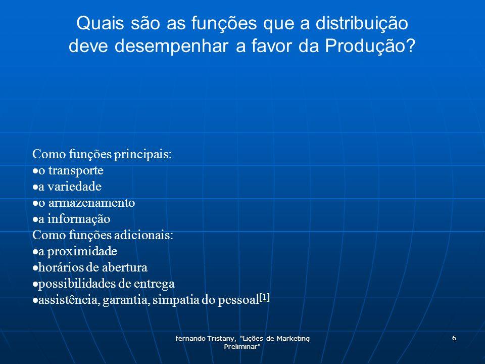 fernando Tristany, Lições de Marketing Preliminar 47 Fim