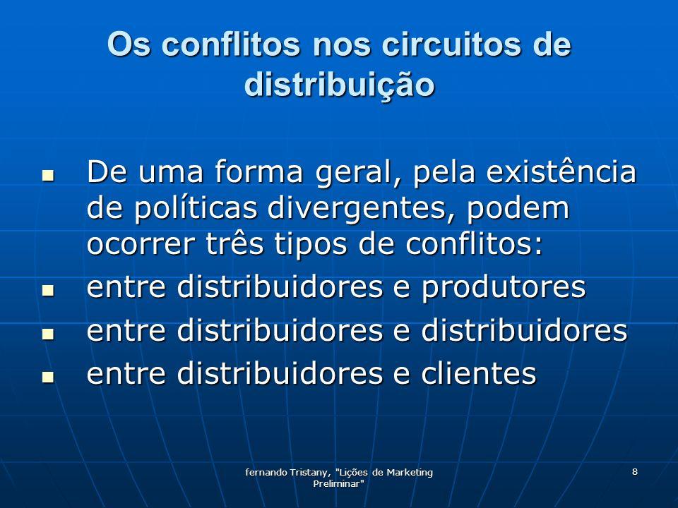 fernando Tristany, Lições de Marketing Preliminar 9 Como gerir conflitos: