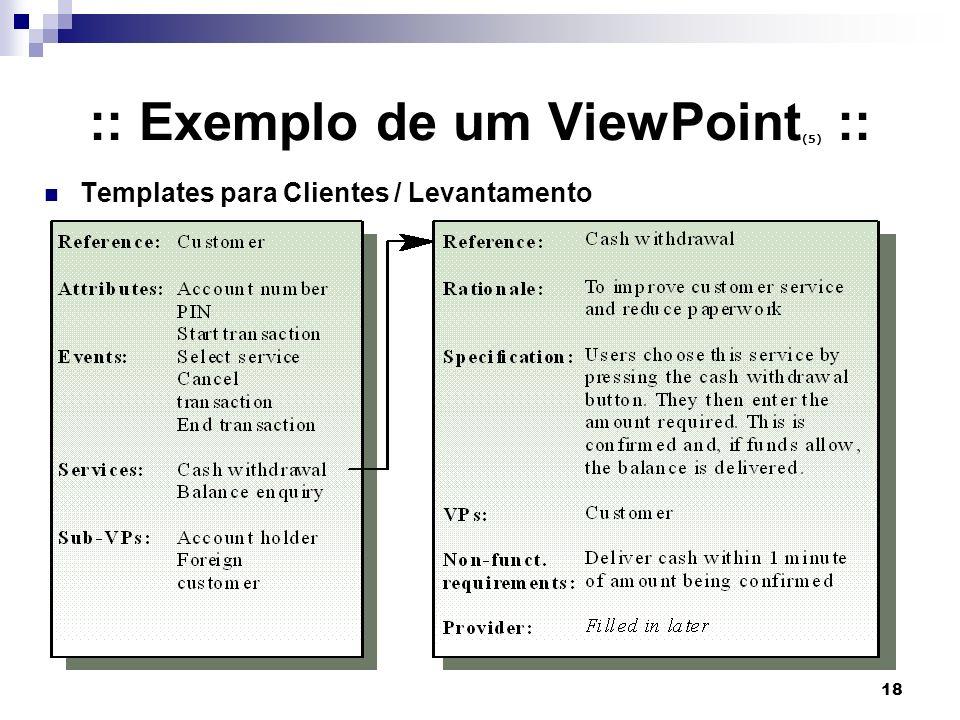 18 :: Exemplo de um ViewPoint (5) :: Templates para Clientes / Levantamento