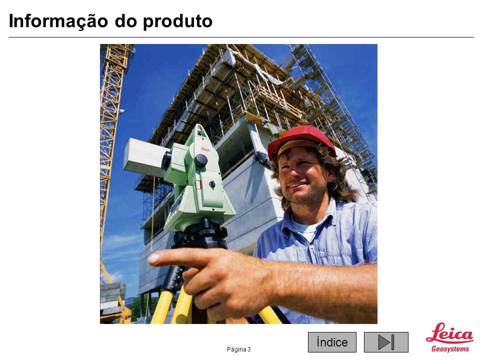 Página 4 Informação do produto TPS 400 Series Nova série de Estações Totais para a construção.