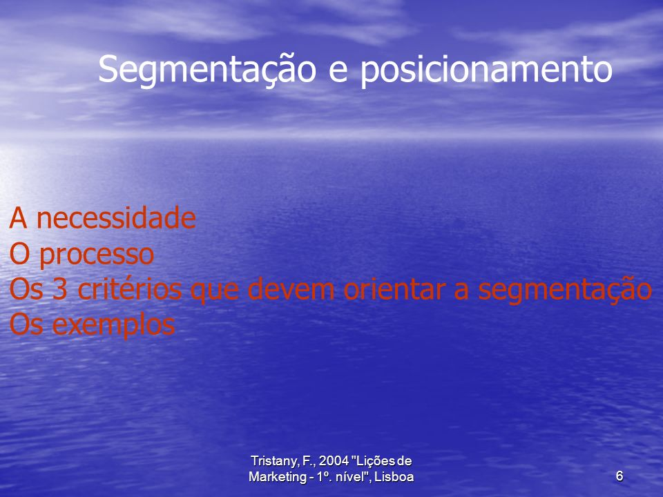 Tristany, F., 2004 Lições de Marketing - 1º.