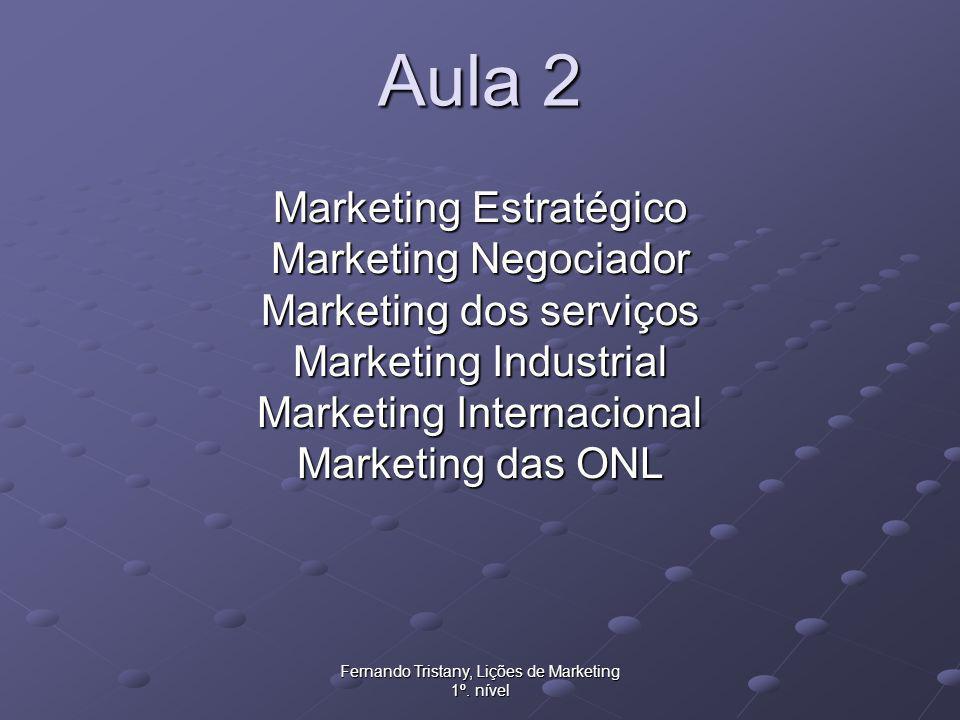 Fernando Tristany, Lições de Marketing 1º.