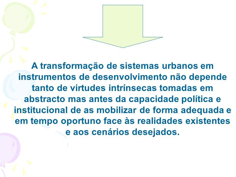 4.A rede urbana, cidades pequenas e intermédias e áreas metropolitanas Qual o papel dos sistemas urbanos como instrumento de desenvolvimento? -São peç