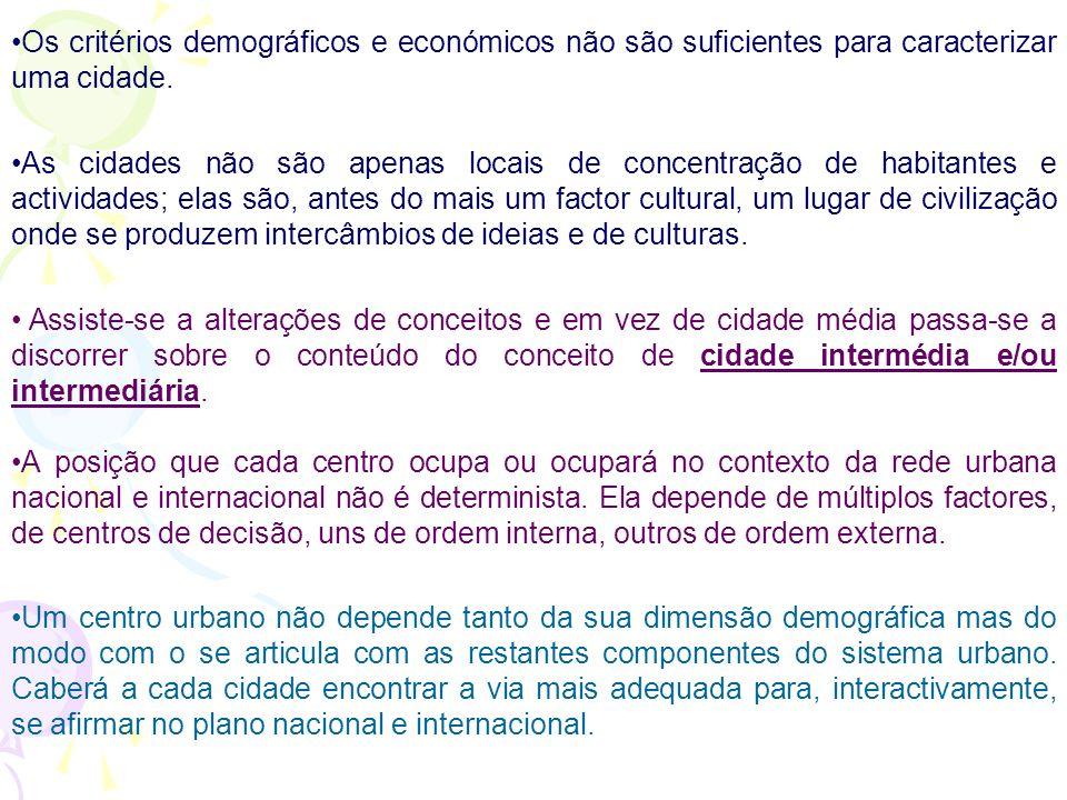 Da cidade média à cidade intermédia/intermediária Um sistema urbano equilibrado e integrado em redes de cooperação e concertação à escala europeia e m