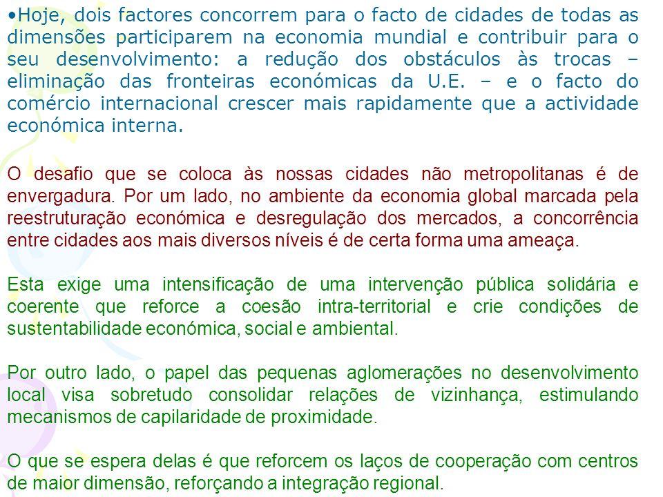 É preciso transformar o sistema de cidades portuguesas num instrumento eficiente de equidade territorial, coesão nacional e desenvolvimento sustentado