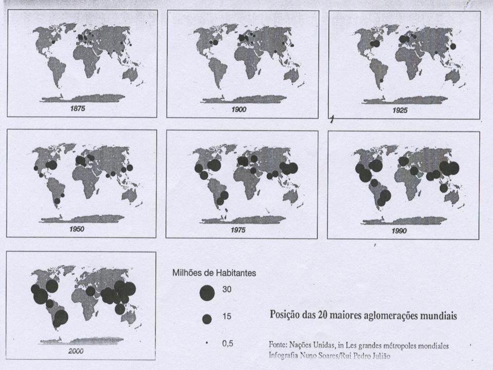 União EuropeiaÁfrica NegraAmérica do Sul As maiores metrópoles mundiais resultam, normalmente, da aglutinação de diversos núcleos, ao longo do tempo,