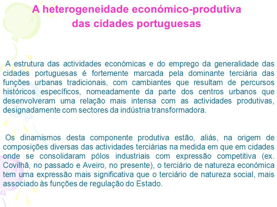 População residente exercendo actividade no sector terciário, por concelhos Sector Terciário Situa-se principalmente: Nas Áreas Metropolitanas; No Alg