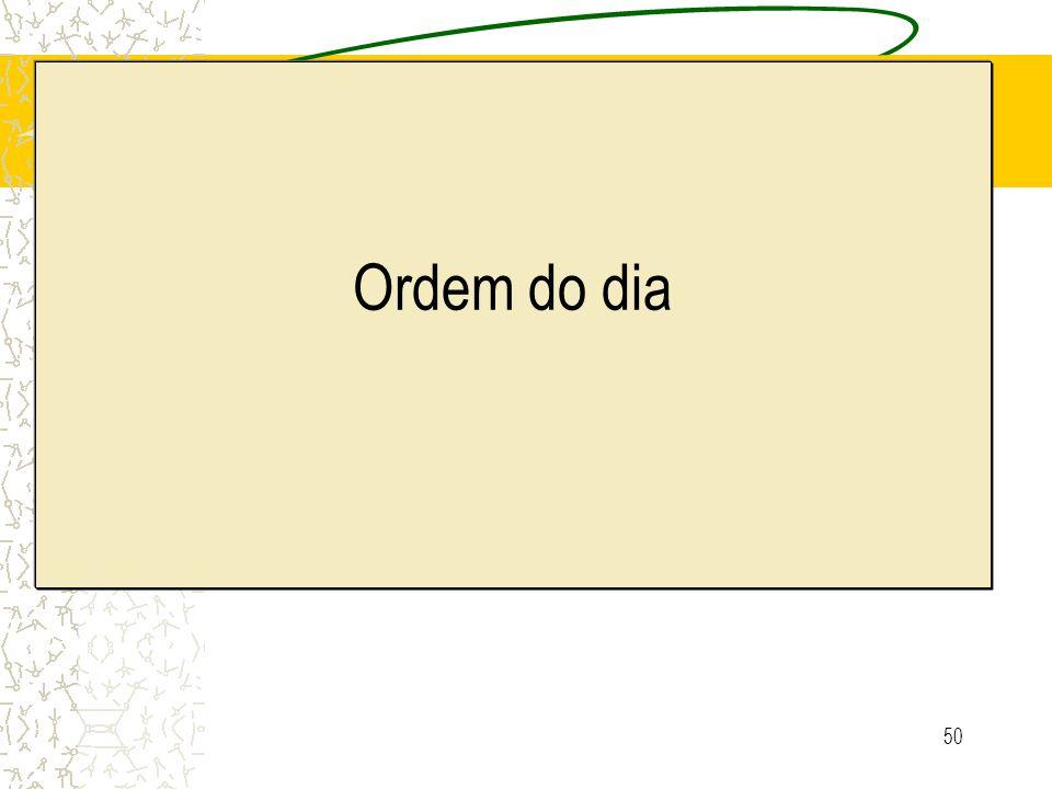 50 Ordem do dia