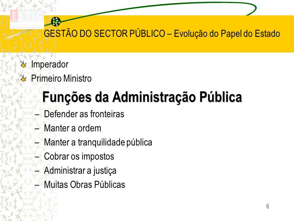 17 Gestão do sector Público – Sistemas de Administração Pública Centralizado Tribunais administrativos Direito Administrativo Execução decisões pela A.