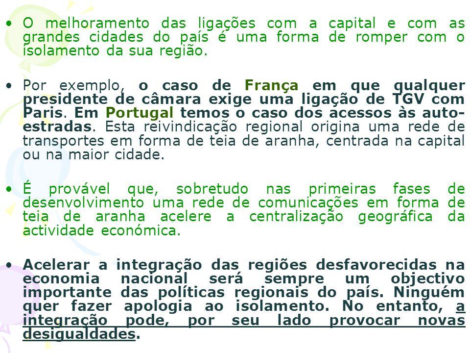 O melhoramento das ligações com a capital e com as grandes cidades do país é uma forma de romper com o isolamento da sua região. Por exemplo, o caso d