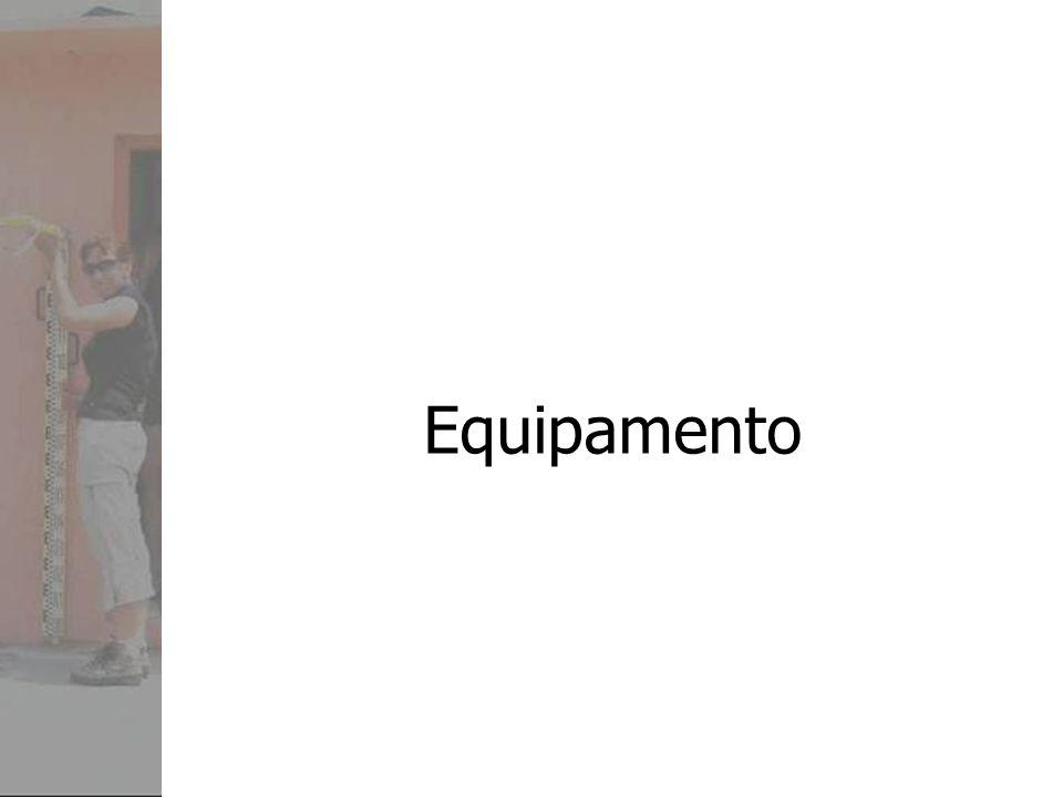 Nível Óptico (Instrumento) Tripé Régua/Bastão Sapata de régua Nivela da Régua/Bastão (olho de boi) Marcas