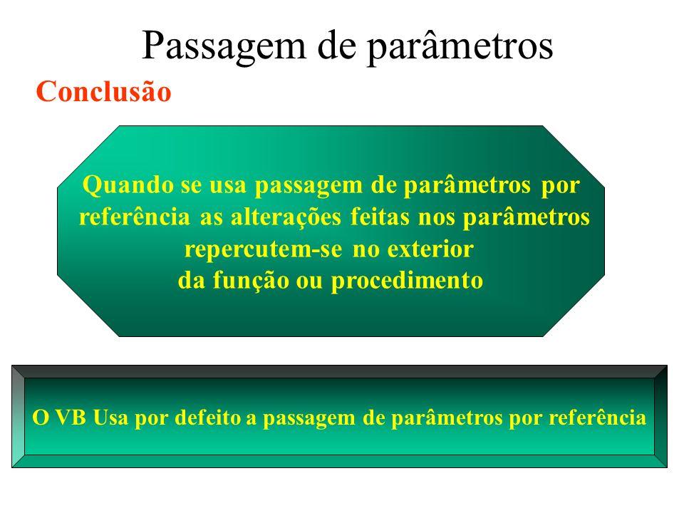 Resolução da prática 5 Objectos necessários Duas caixas de texto (textbox) Três botões (commandoButton) Posicione-os de forma lógica Duas labels (valor de n, resultado) Um form Duas Frames (input, output)