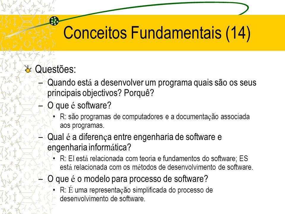 Questões: –Quando est á a desenvolver um programa quais são os seus principais objectivos.