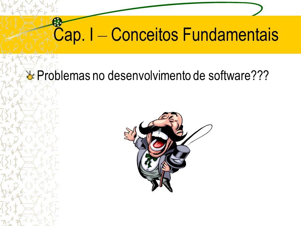 Cap. I – Conceitos Fundamentais Problemas no desenvolvimento de software???