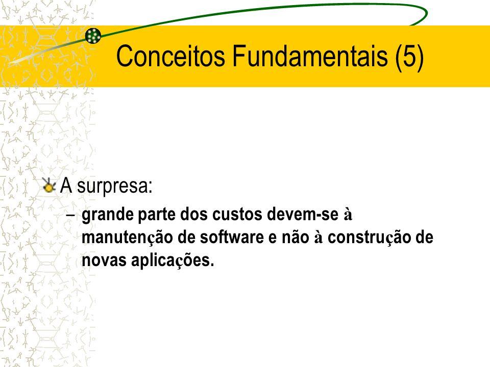 A surpresa: – grande parte dos custos devem-se à manuten ç ão de software e não à constru ç ão de novas aplica ç ões.