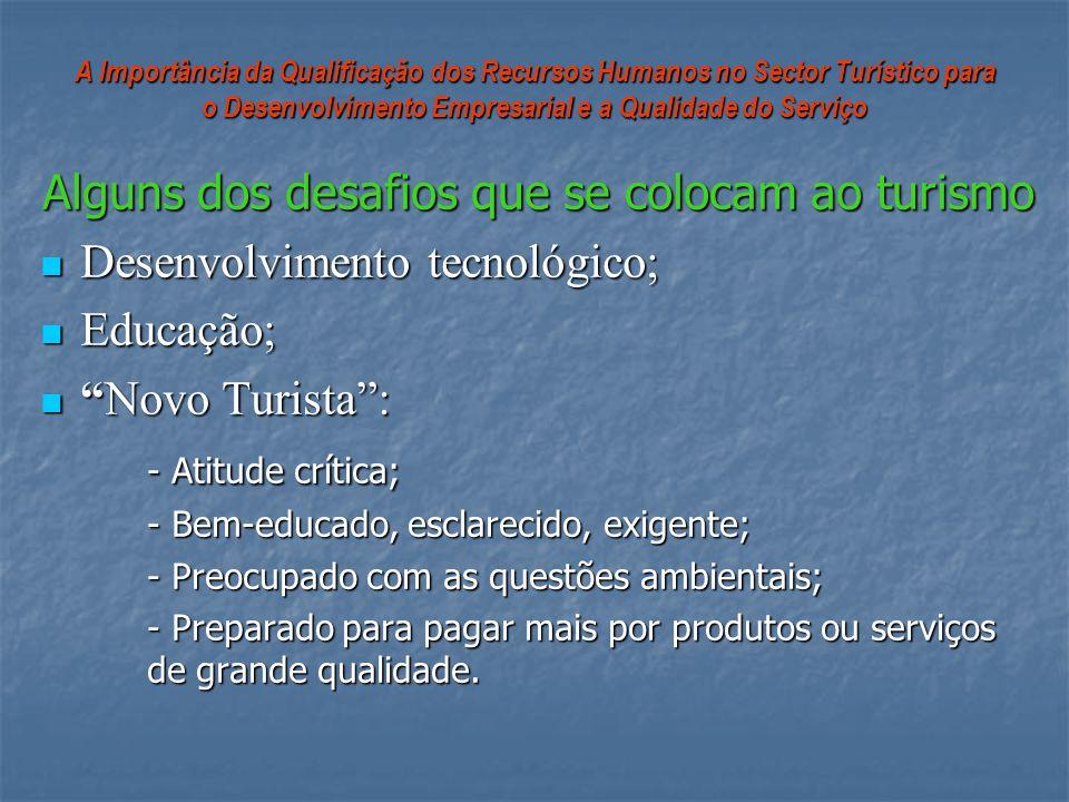 A Importância da Qualificação dos Recursos Humanos no Sector Turístico para o Desenvolvimento Empresarial e a Qualidade do Serviço Alguns dos desafios
