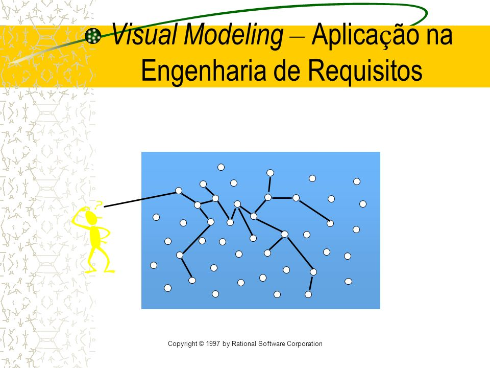 Copyright © 1997 by Rational Software Corporation Visual Modeling – Aplica ç ão na Engenharia de Requisitos
