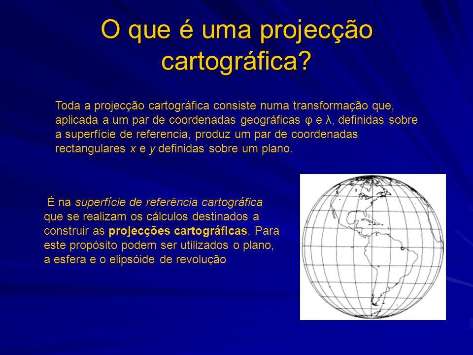 Propriedades das Projecções Cartográficas Se fosse possível construir uma projecção isenta de deformações, fazia pouco sentido falar-se das propriedades das projecções cartográficas.