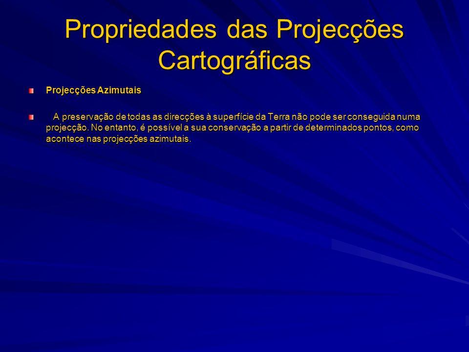 Classificação das Projecções Cartográficas A classificação das projecções cartográficas pode obedecer a critérios muito diversos e constitui um tema de relativa complexidade.