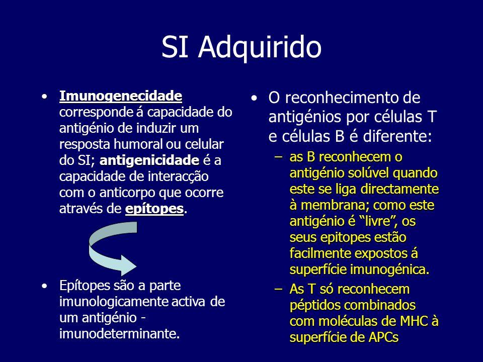 Imunogenecidade antigenicidade epítopesImunogenecidade corresponde á capacidade do antigénio de induzir um resposta humoral ou celular do SI; antigeni
