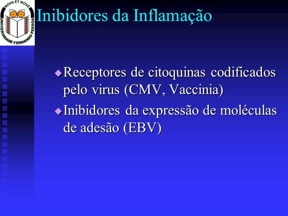 Inibidores da Inflamação Receptores de citoquinas codificados pelo virus (CMV, Vaccinia) Receptores de citoquinas codificados pelo virus (CMV, Vaccini