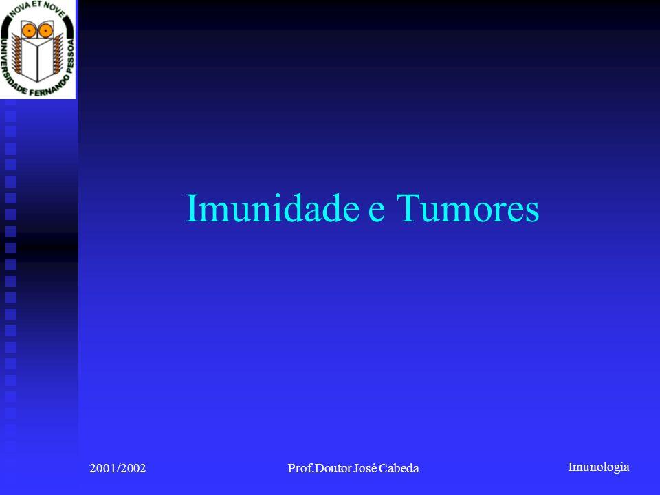 Imunologia 2001/2002Prof.Doutor José Cabeda Imunidade e Tumores