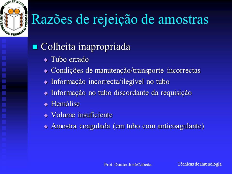 Técnicas de Imunologia Prof. Doutor José Cabeda Imunosubtracção