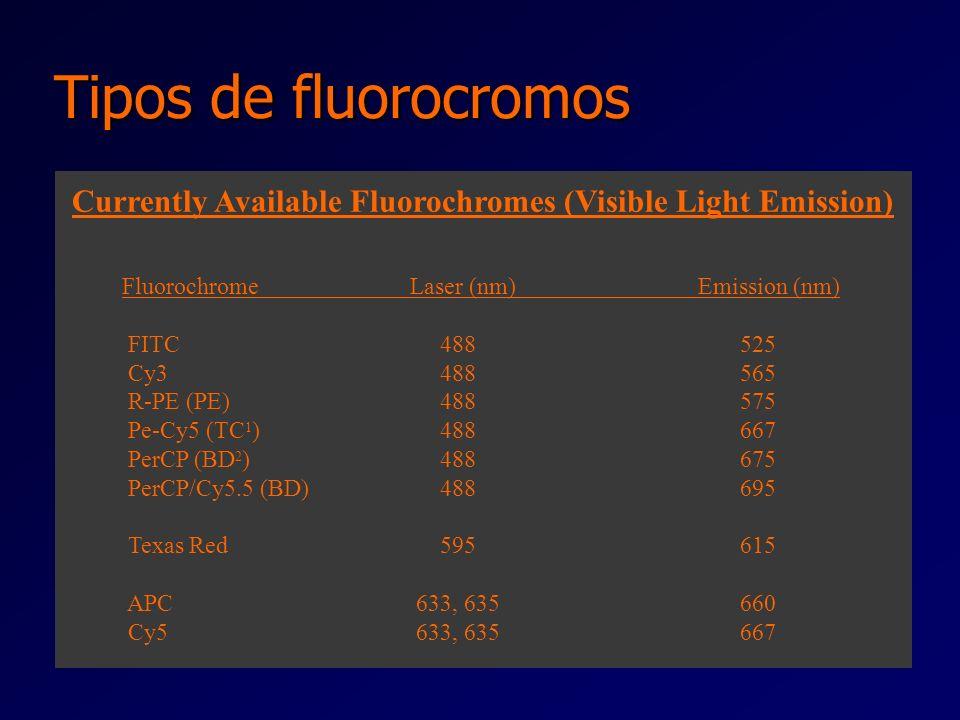 Dispersão da Fluorescência l A fluorescência emitida é detectada por fotosensores que recebem o comprimento de onda seleccionado l A especificidade da